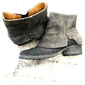 Von Dutch ankle gray booties